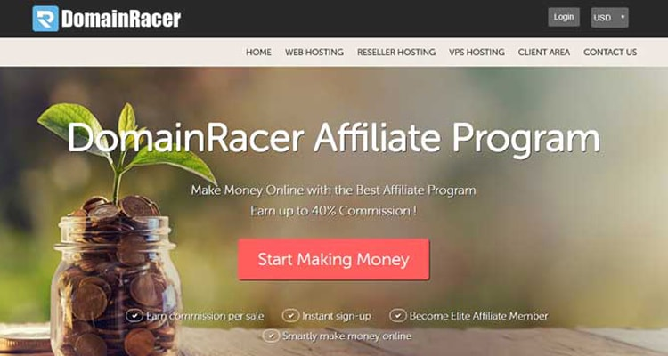 best DomainRacer affiliate residual income